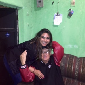 Bridge of Life volunteer, Liz Lopez, visiting with her grandfather, Jorge Chacon, in Guatemala City