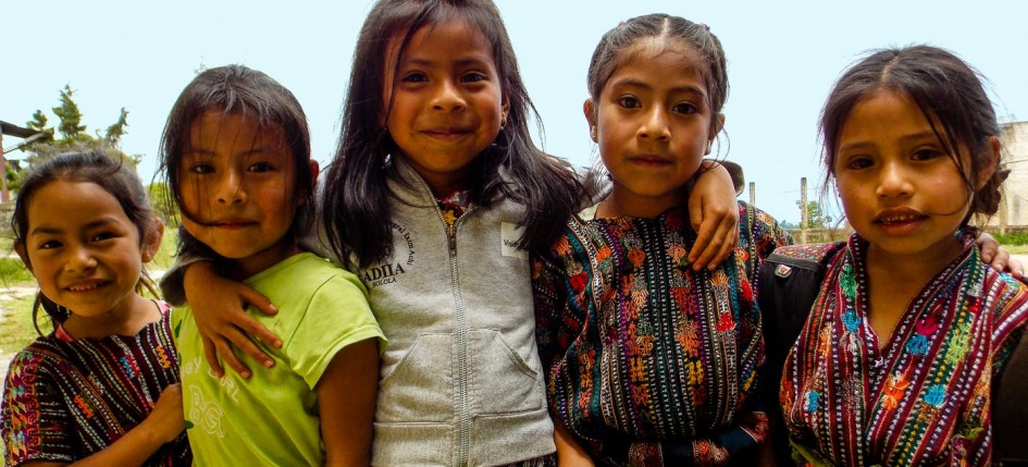 Children from Sololá, Guatemala where the Bridge of Life program screening more than 500 school-age kids for chronic kidney disease.
