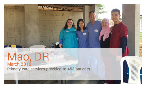 Mao, Dr March 2016 Primary care services provided to 453 patients