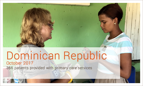 Dominican Republic 366 patients provided with primary care services