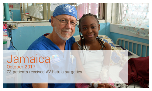 Jamaica 73 patients received AV fistula surgeries